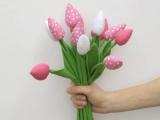 Як зшити квітка, використовуючи викрійку тюльпана, з тканини: майстер-клас