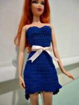 Просте і складне плаття для Барбі гачком: схеми